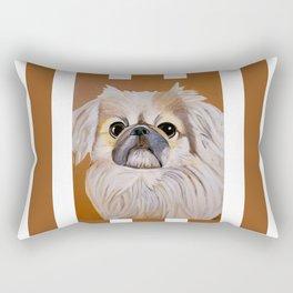 Peke Moo Rectangular Pillow