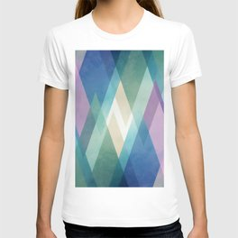 Abstract diamond crystals T-shirt