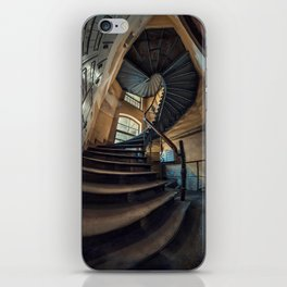 Old forgotten staircase iPhone Skin