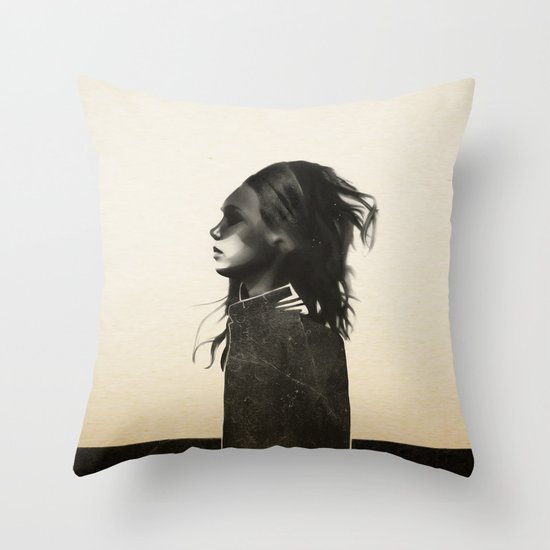 Unusual Encounter Throw Pillow