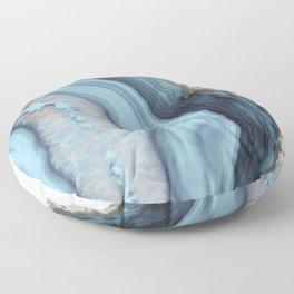 Light Blue Agate Floor Pillow