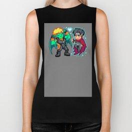 Teddy & Billy, Gay Nerds in Love - Pixel Art Biker Tank