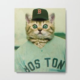Baseball Kitten #3 Metal Print