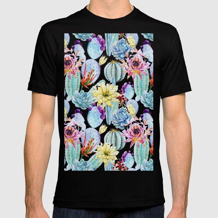 52d7339a8cf9 Cactus Pattern 11 T-shirt by serigraphonart | Society6