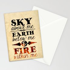 Sky Earth Fire Stationery Cards