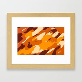brown yellow and dark brown painting abstract background Framed Art Print