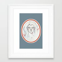 clear Framed Art Prints featuring Clear by bailey elizabeth