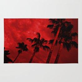 Red, Stormy Desert Sky Rug