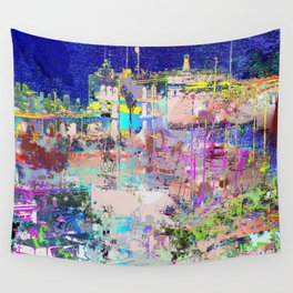 harbour lights Wall Tapestry