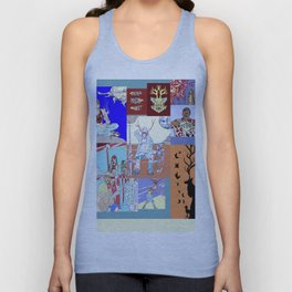 Waiting At The Aztlan Bus Stop Somewhere In The East Los Universe Unisex Tank Top