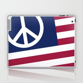 Peace and Love USA Flag Laptop & iPad Skin