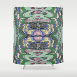 Sacred Geometry Tibetan Inspired Meditation Bliss Print Shower Curtain