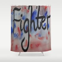 street fighter Shower Curtains featuring Fighter  by Crimson-daisies