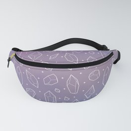 Crystals (Lilac) Fanny Pack