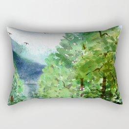 Mountain Forest Rectangular Pillow