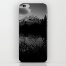 Lassen Volcanic National Park - Mt. Lassen Reflection in Black and White iPhone & iPod Skin