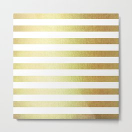 Simply Striped 24K Gold Metal Print