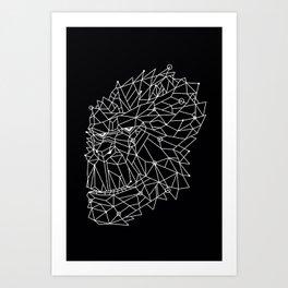 3D HEAD Art Print