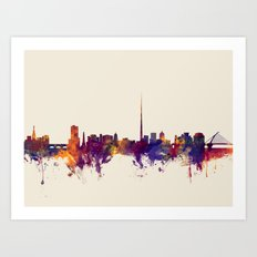 Dublin Ireland Skyline Art Print