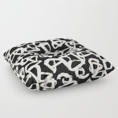 Tribal Triangle Dots Floor Pillow