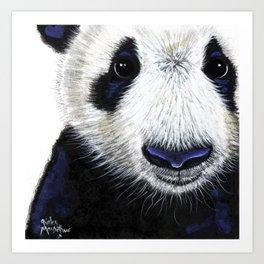 Panda Bear ' PANDA ' by Shirley MacArthur Art Print
