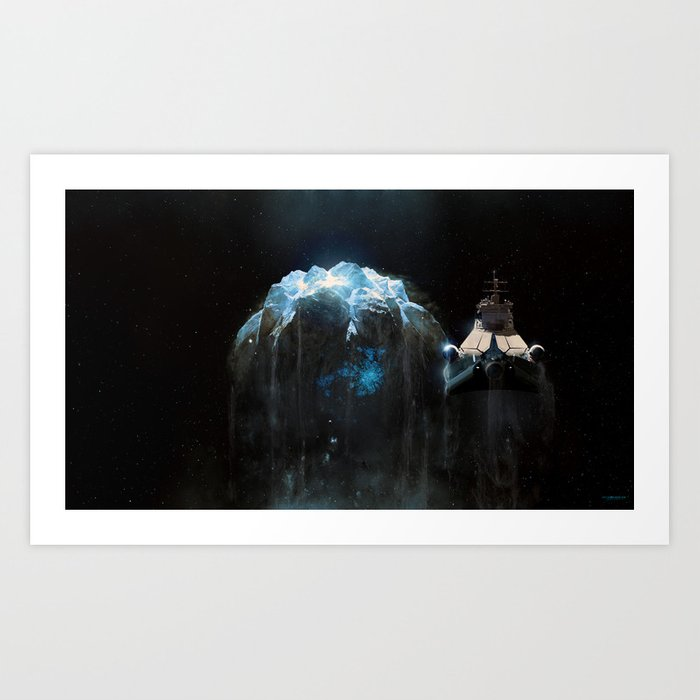 Long-haired silver star Art Print