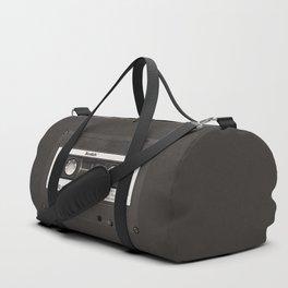 Cassette Tape Black And White #decor #homedecor #society6 Duffle Bag
