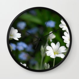 Flowers Izby Garden 7 Wall Clock