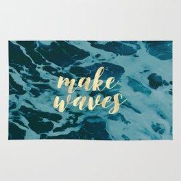 Make Waves in Gold Rug