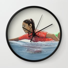 Roxy surf girl Wall Clock