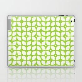 Green geometric floral leaves pattern in mid century modern style Laptop & iPad Skin
