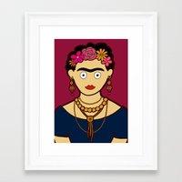 frida kahlo Framed Art Prints featuring Frida Kahlo by evannave