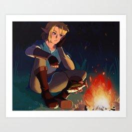 Link in the Woods Art Print