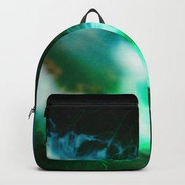 Green glowing alien Jellyfish in black Water Backpack