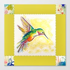 Gold Jewel Box Hummingbird Canvas Print