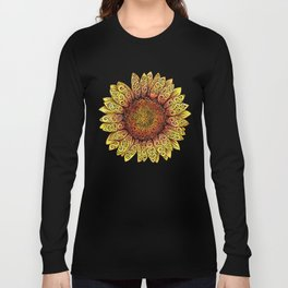 Swirly Sunflower Long Sleeve T-shirt