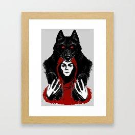 red ridin' hood Framed Art Print