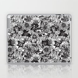 Hellebore lineart florals Laptop & iPad Skin