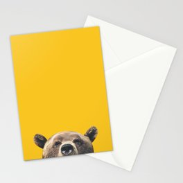 Bear - Yellow Stationery Cards