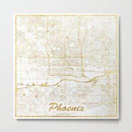 Phoenix Map Gold Metal Print