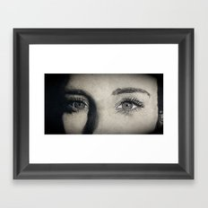 Charcoal drawing Framed Art Print