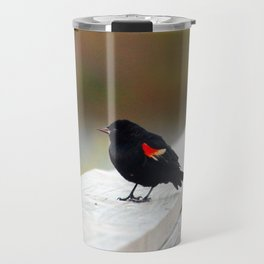 Red Winged Blackbird Travel Mug