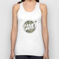 camo Tank Tops featuring Camo by GabrieleCigna