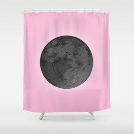 BLACK MOON + PINK SKY Shower Curtain
