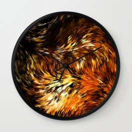 Fox Tails Abstract Wall Clock