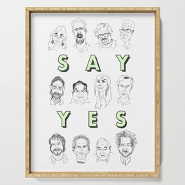 Ancient Aliens - Cast of Caricatures - Say Yes Serving Tray