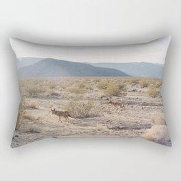 Panamint Valley Coyotes Rectangular Pillow