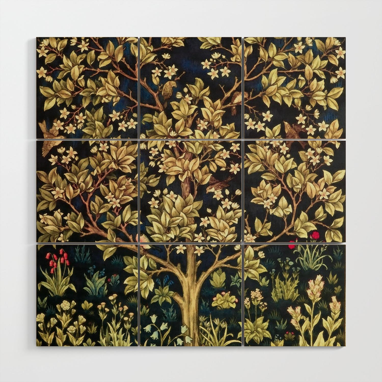 William Morris Tree Of Life Wood Wall Art By Artgallery Society6