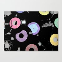 records Canvas Prints featuring Records by Whitney Retter