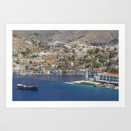 Symi Island in Greece Art Print